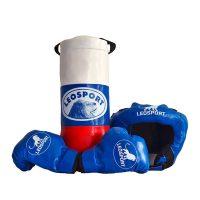 """Детский боксерский набор """"Львенок"""" Леоспорт для начинающего спортсмена мешок+перчатки+шлем №3"""