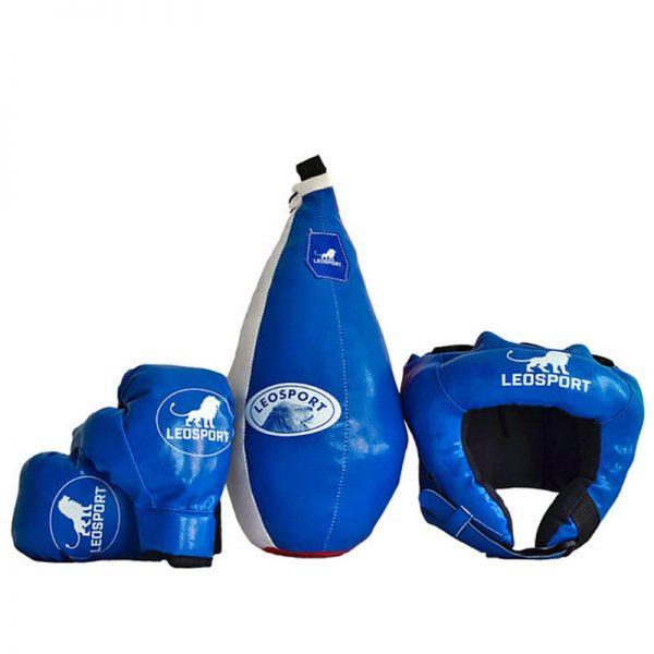 """Детский боксерский набор """"Львенок"""" груша+перчатки+шлем Леоспорт №2"""