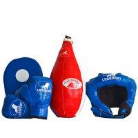 """Детский боксерский набор """"Львенок"""" груша+перчатки+шлем+лапа Леоспорт №4"""