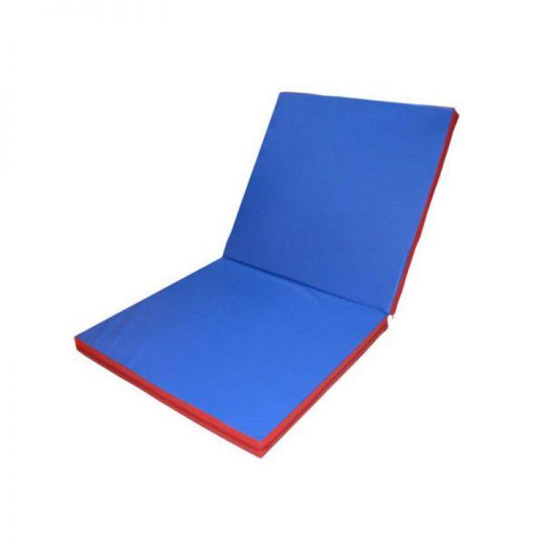 Мат гимнастический складной 10 см 2х1 кожзаменитель, тент Леоспорт