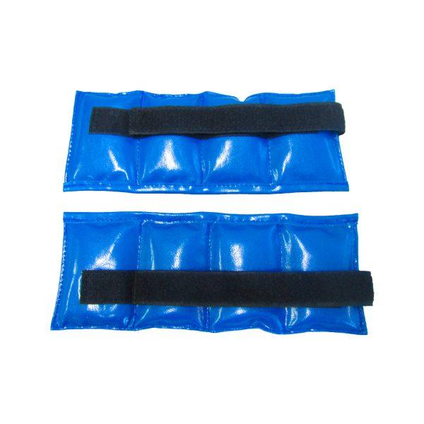 Утяжелители песочные для рук и ног синие натуральная кожа Леоспорт