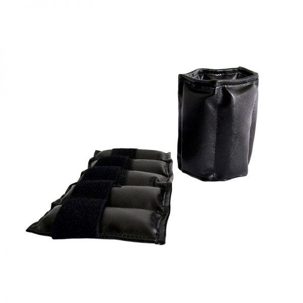 Утяжелители песочные для рук и ног черные натуральная кожа Леоспорт
