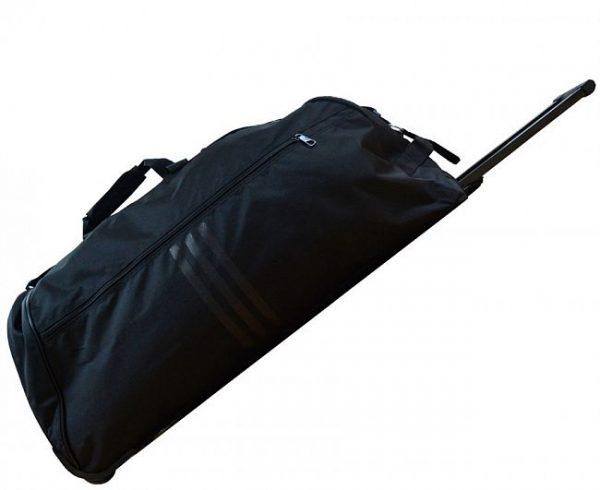 Сумка спортивная с колесами Adidas Trolley Bag Combat Sports черно-золотая
