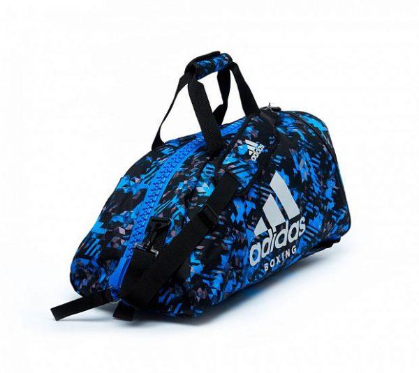 Сумка-рюкзак Adidas Training 2 in 1 Camo Bag Boxing сине-комуфляжная