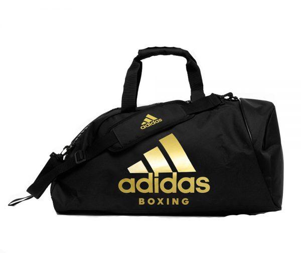 Сумка-рюкзак AdidasTraining 2 in 1 Bag Boxing черно-золотая