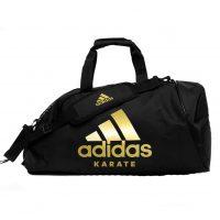 Сумка-рюкзак Adidas Training 2 in 1 Bag Karate черно-золотая