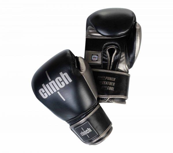 Перчатки боксерские Clinch Prime 2.0 черно-бронзовые