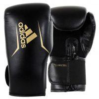 Перчатки боксерские Adidas Speed 75 полиуретан черно-золотые
