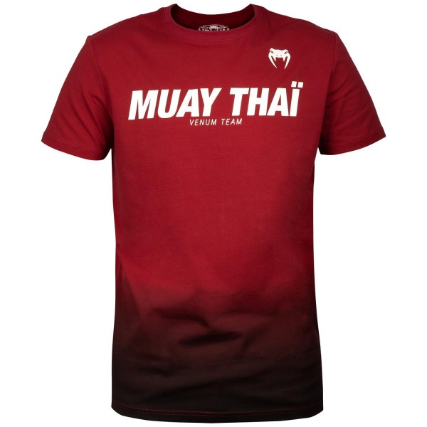 Футболка Venum Sport Classic Muay Thai Red Wine/Black