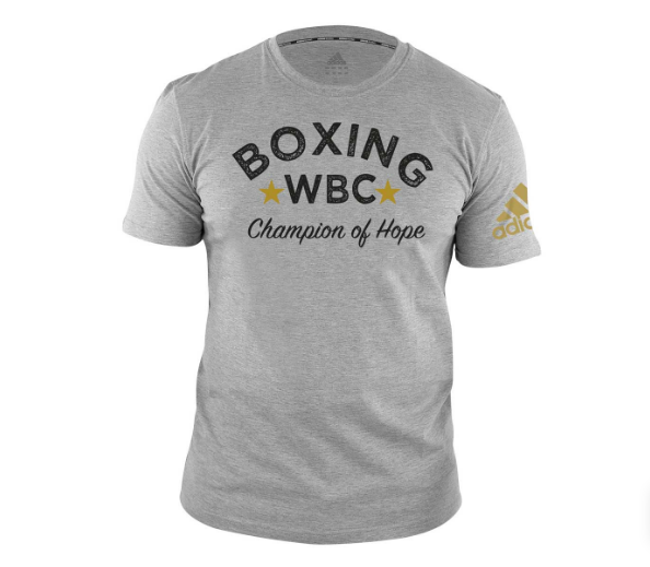 Футболка Adidas Boxing Tee WBC Champion Of Hope черная хлопок