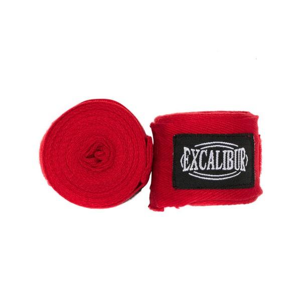 Бинты боксерские Excalibur красные 3,5 м хлопок