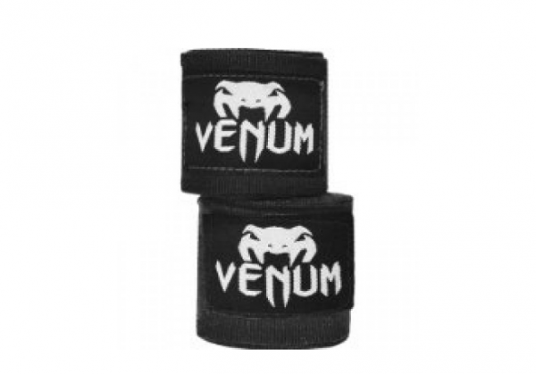 Бинты боксерские Venum Kontact 4m Black хлопок