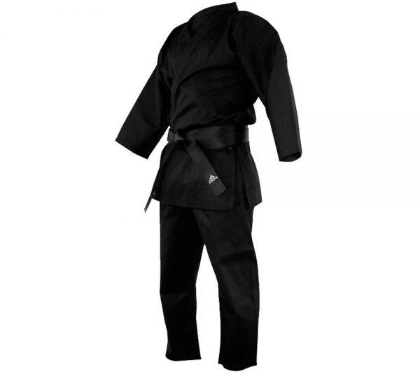 Кимоно для карате Adidas Bushido черное( хлопок, полиэстэр)