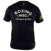 Футболка Adidas Boxing Tee WBC Champion Of Hope черная хлопок
