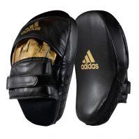 Лапы изогнутые Adidas Training Focus Mitt Short черно-золотые