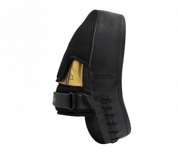 Лапы изогнутые Adidas Training Curved Punch Mitt черно-золотые