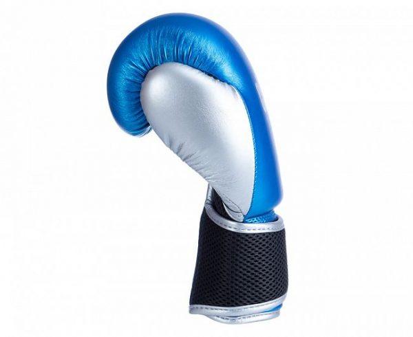 Перчатки боксерские Clinch Kids сине-серебристые4 oz