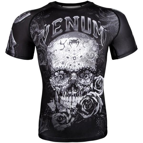 Рашгард Venum Santa Muerte 3.0 Black/White