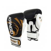 Перчатки боксерские Kango BVK-081 Black/White Буйволиная кожа