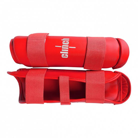 Защита голени Clinch Shin Guard Kick красная/синяя