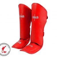 Защита голени и стопы Clinch Shin Instep Guard Kick красная/синяя