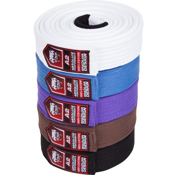 00943 Пояс для бжж Venum Belt White