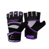 Перчатки спортивные Kango KMA-250 Black Purple/White