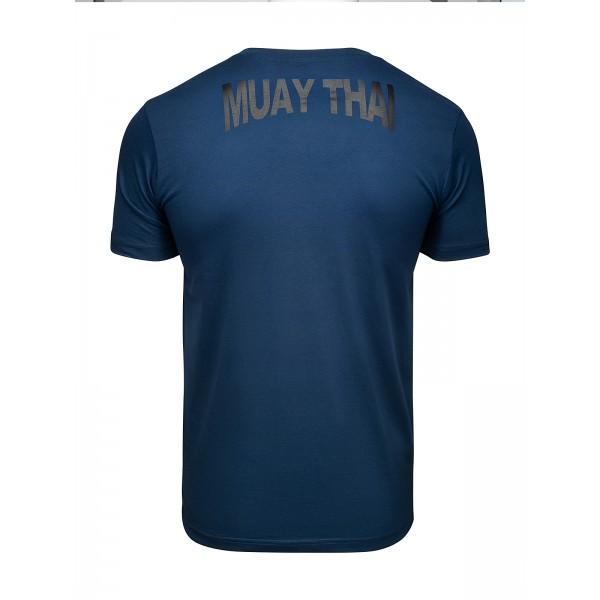 Футболка Athletic pro. Muay Thai Fighting Spirit Blue