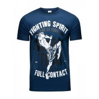 Футболка Athletic pro. Muay Thai Fighting Spirit Blue
