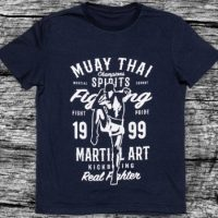 Футболка Athletic pro. Muay Thai Real Fighter Blue