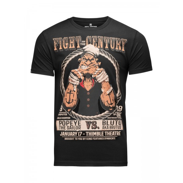 Футболка Athletic pro. Popeye Fight of the Century Black