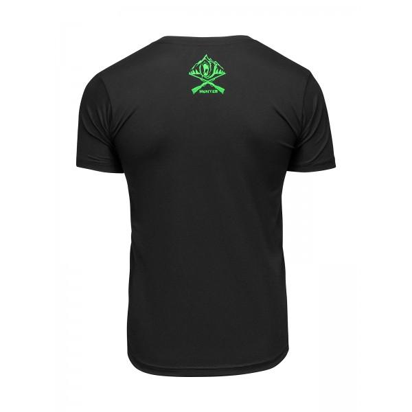 Футболка Athletic pro. Hunter Black/Neo Green