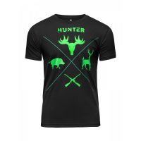 Футболка Athletic pro. Hunter Black/Neo Green