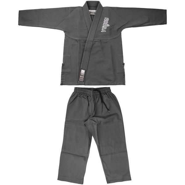 Кимоно для бжж Venum Contender Kids Gray с поясом