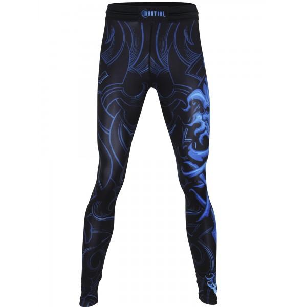 Компрессионные штаны Athletic pro. Leo Blue MSP-126
