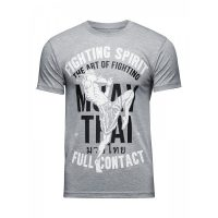 Футболка Athletic pro. Muay Thai Fighting Spirit Grey