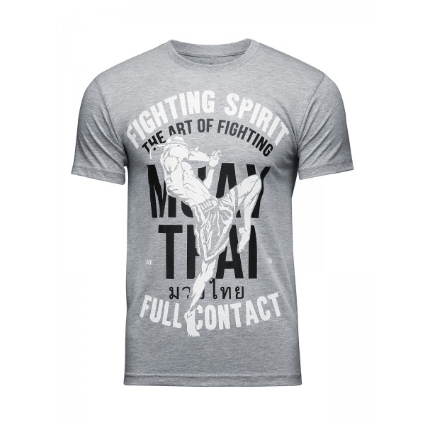 Футболка Athletic pro. Muay Thai Fighting Spirit Grey
