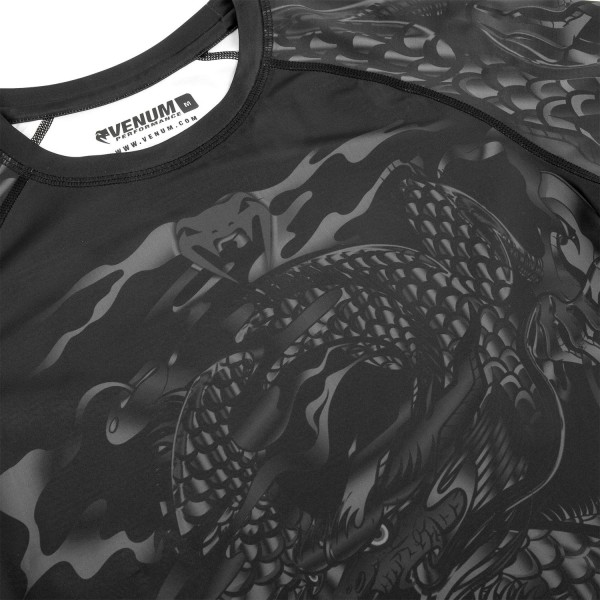 Рашгард Venum Dragon's Flight Black/Black S/S