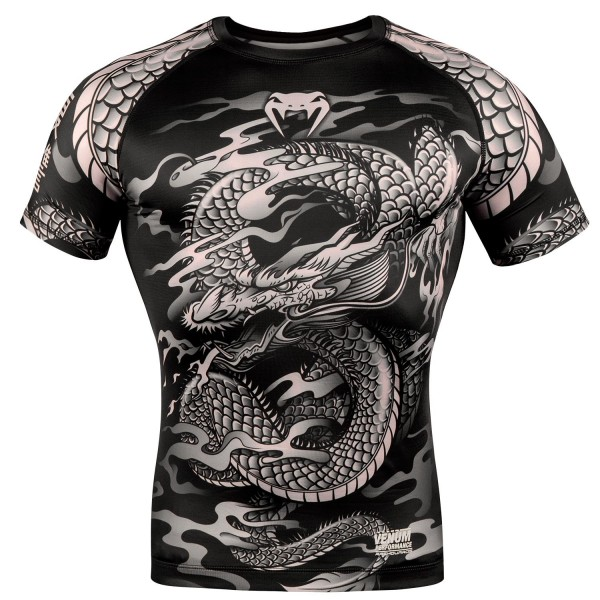 Рашгард Venum Dragon's Flight Black/Sand S/S