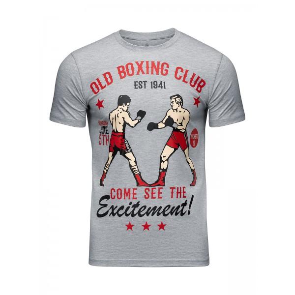 Футболка Athletic pro. Old Boxing Club Gray