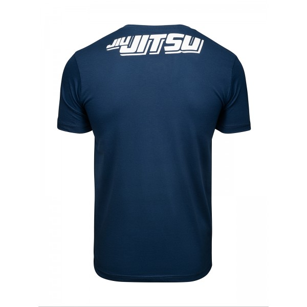 Футболка Athletic pro. Skeleton Jiu Jitsu Blue