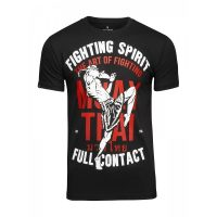 Футболка Athletic pro. Muay Thai Fighting Spirit Black
