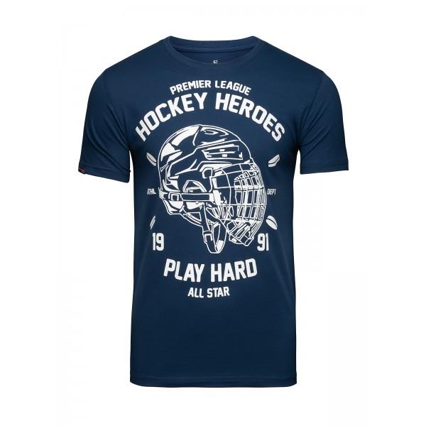Футболка Athletic pro. Hockey Helmet Blue