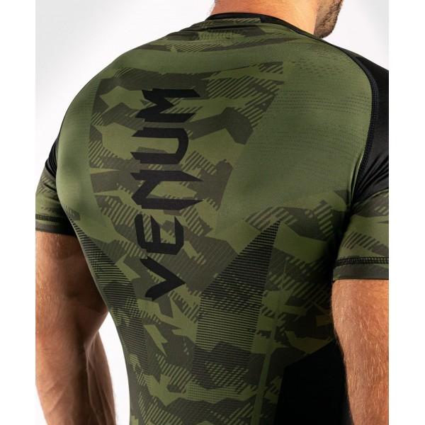 Рашгард Venum Trooper S/S Forest Camo/Black
