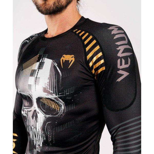 Рашгард Venum Skull L/S Black