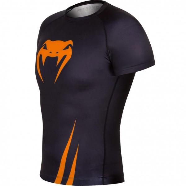 Рашгард Venum Challenger S/S Black/Neo Orange