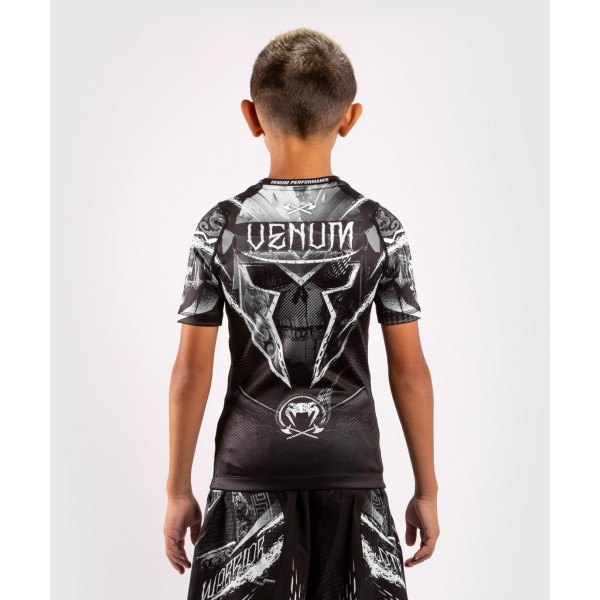 Рашгард детский Venum Gladiator 4.0 Black/White S/S