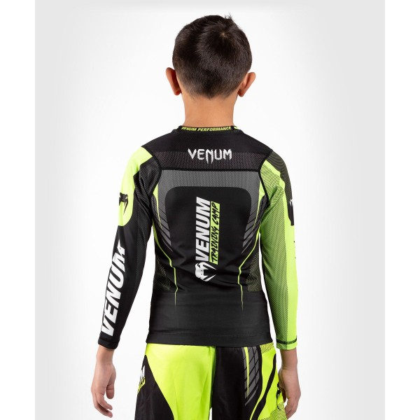 Рашгард детский Venum Training camp 3.0 Black/Neo Yellow L/S
