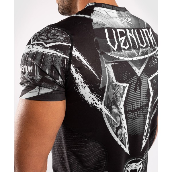 Футболка Venum Gladiator 4.0 Dry Tech Black/White
