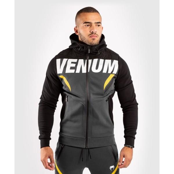 Толстовка Venum ONE FC Impact Grey/Yellow